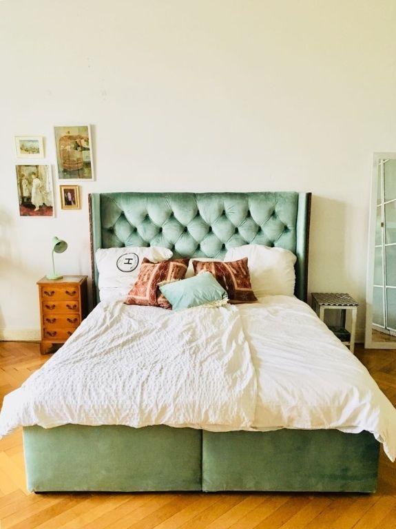 Schönes Schlafzimmer mit luxuriösem Bett #Schlafzimmer #Zimmer