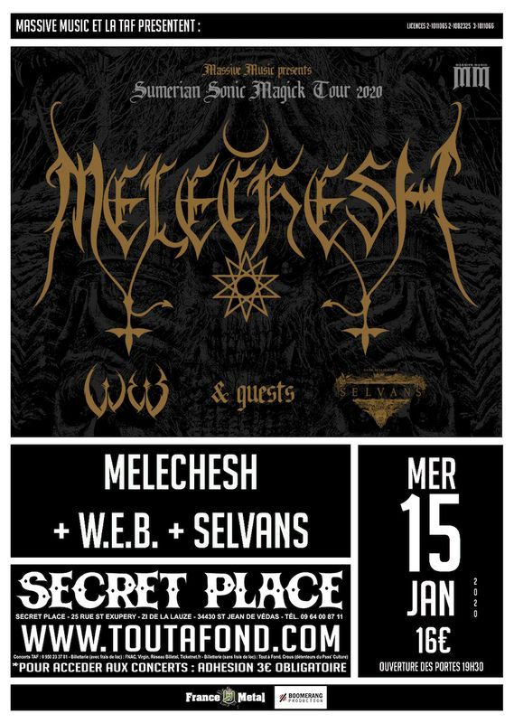MELECHESH [Isr] + W.E.B. [Gre] à SaintJeandeVédas