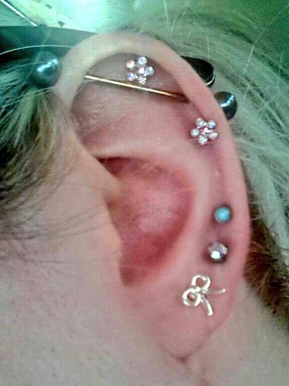 Left ear #piercings #earpiercings