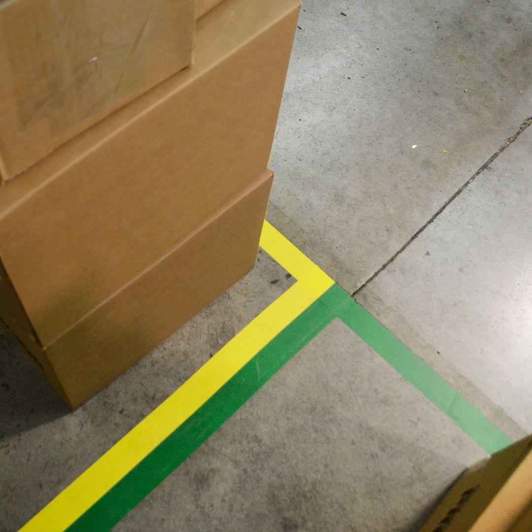 How to install floor marking corners flooring workplace