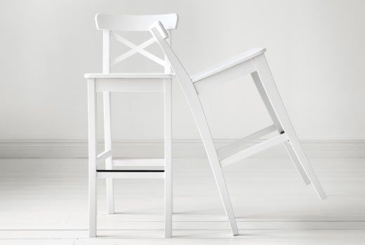 Ingolf bar stool with backrest white dining rooms