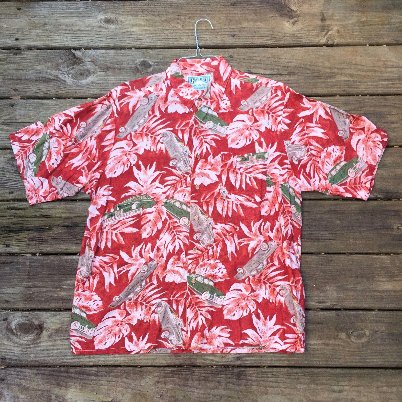 52457621 Hot Rods Hawaiian Shirt- Classic Cars- Luau Shirt- Tiki- Hana Bay ...
