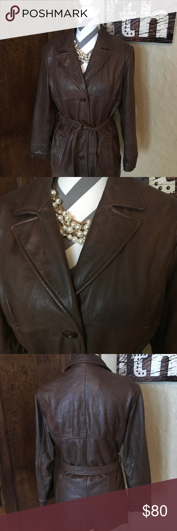 Wilson's Leather Brown Leather Jacket size M Check out