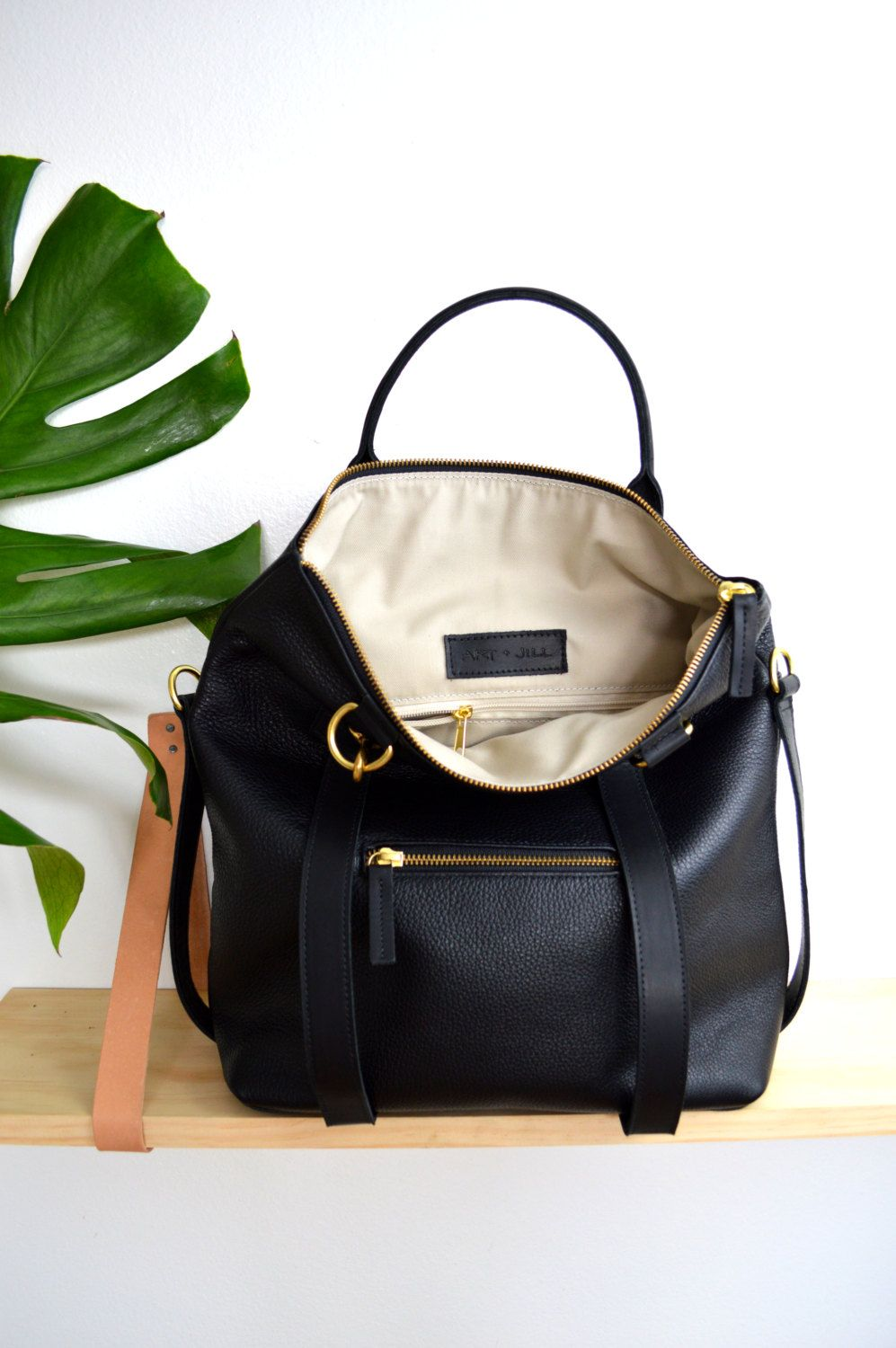 3 In 1 Leather Backpack Laptop Bag Convertible