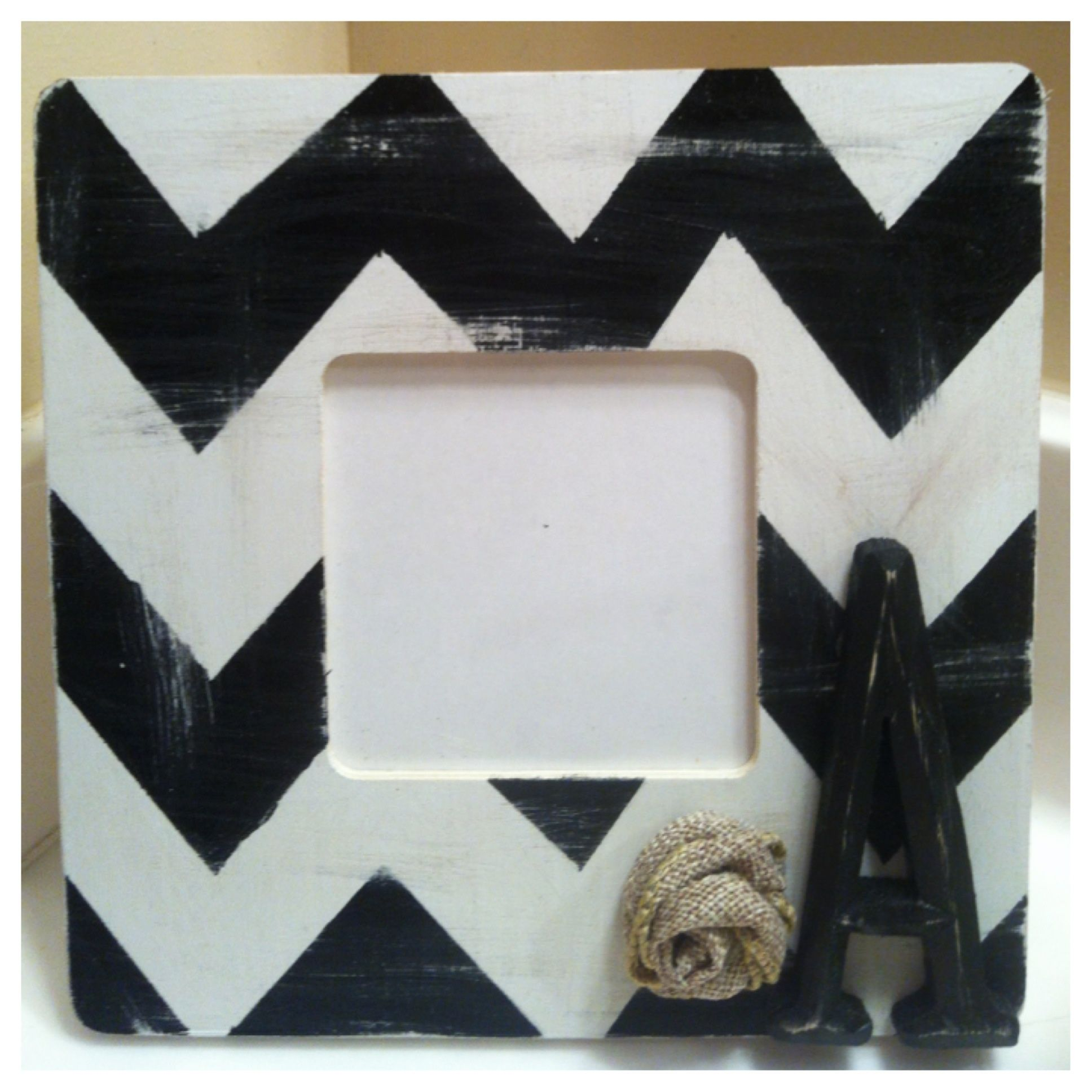 I made this frame from a $1 wooden frame from Michael\'s. I love how ...