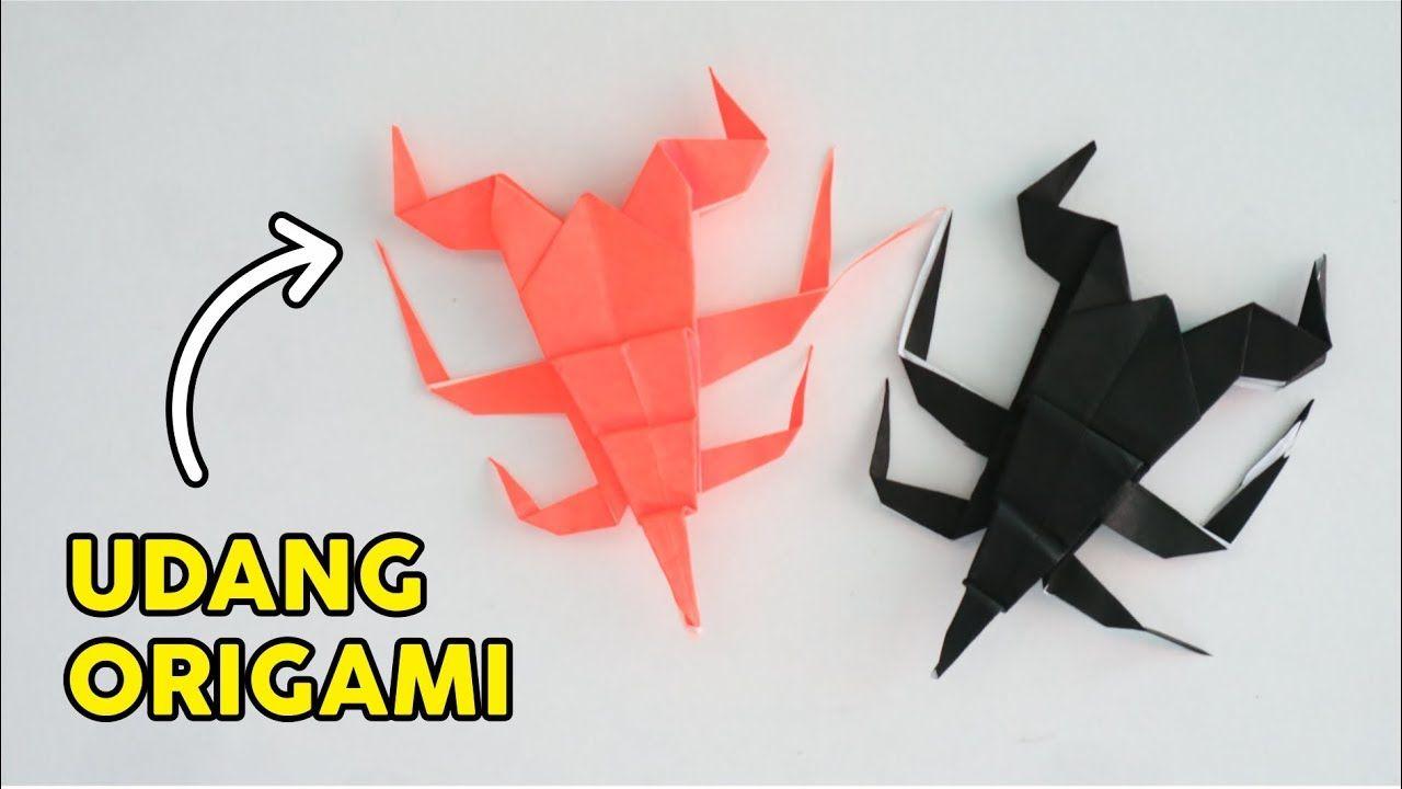 Cara Membuat Udang Origami Mudah How To Fold Shrimp Paper Easy Tutoria Origami Udang