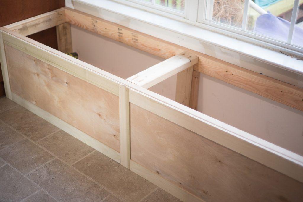 DIY BUILT-IN STORAGE BENCH TUTORIAL | ONE ROOM CHALLENGE WEEK 3 - PLACE OF MY TASTE -   diy Storage seat