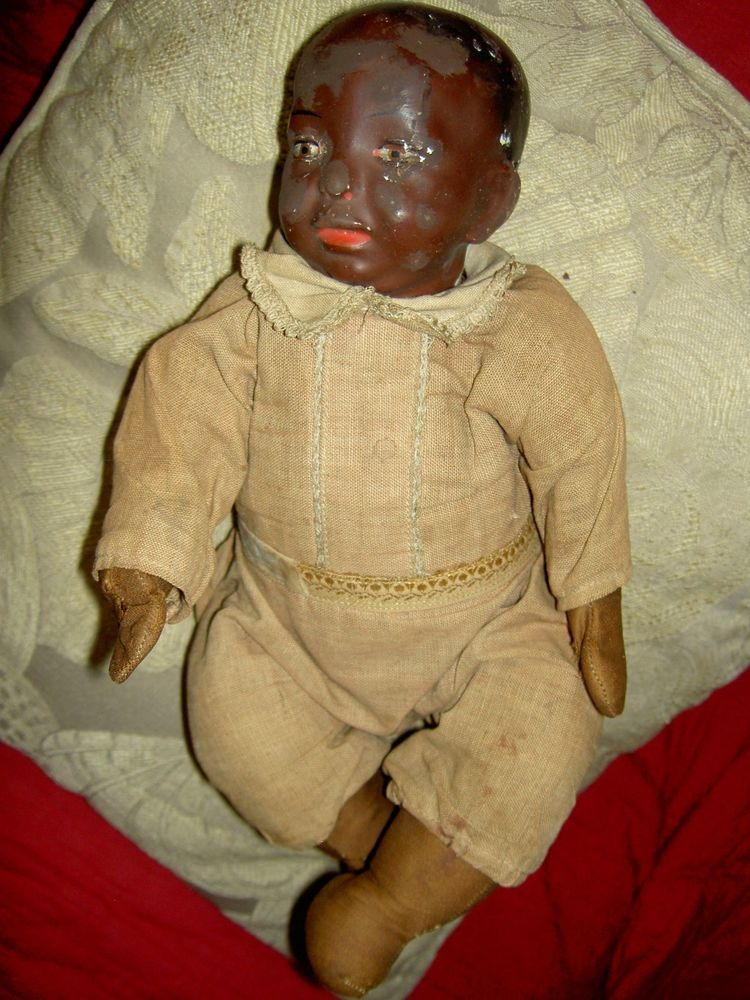 """Very rare 1911 IDEAL labeled black, """"Baby Mine"""", character ..."""