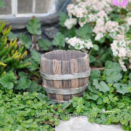 Georgetown Home U0026 Garden Barrel Planter For Miniature Garden, Fairy Garden  #gardenideas