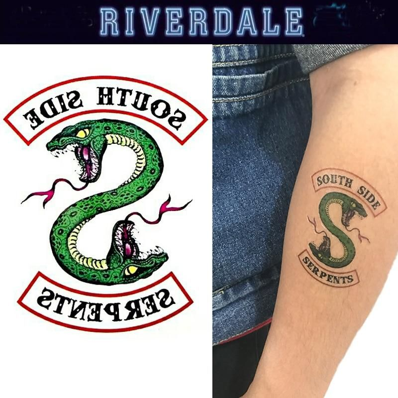 Riverdale Temporary Tattoo 5 South Side Serpents Riverdale