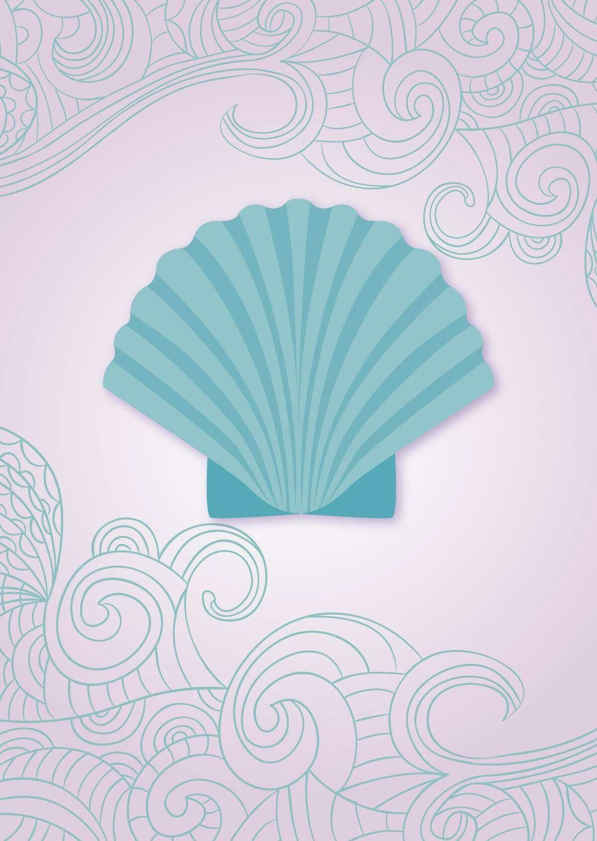 seashell shell mermaid sereismo wallpaper