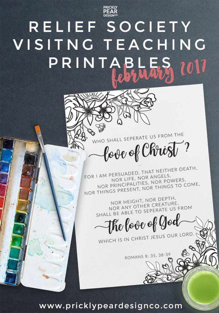 February 2017 Visiting Teaching Printable - FREE 5x7 Printable