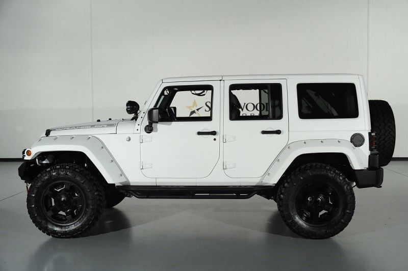 Custom White Kevlar Coated 2013 Jeep Wrangler Unlimited Custom