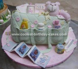 Diaper Bag Cake ~ so cute, looks real!
