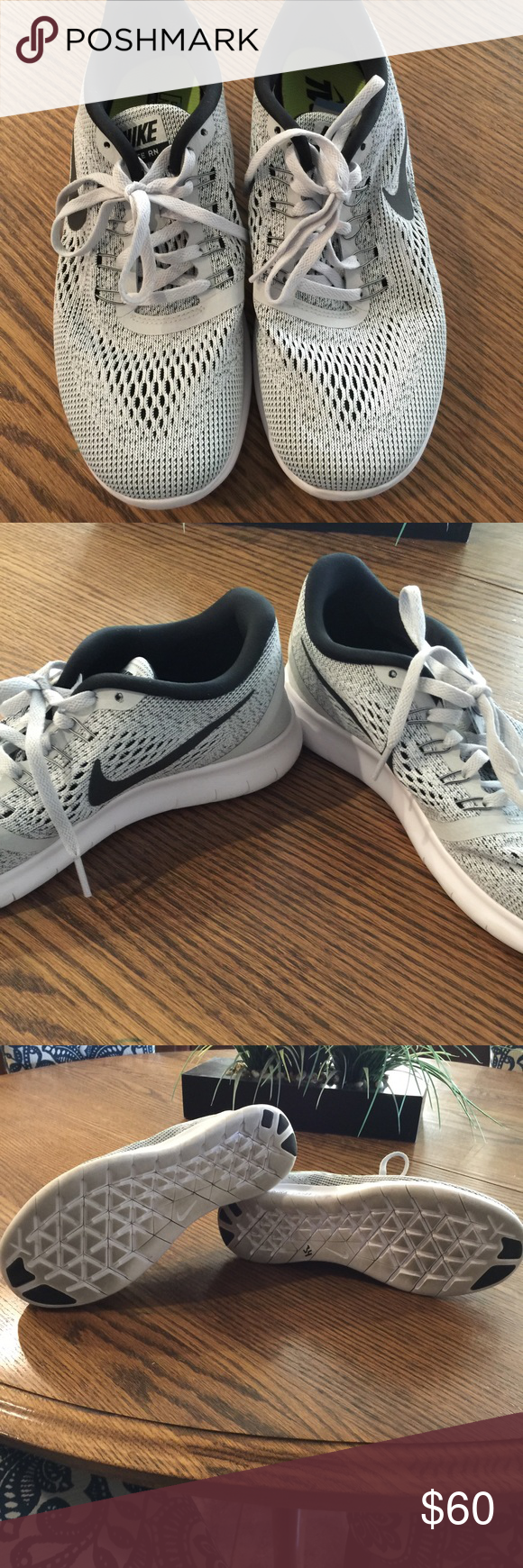 Nike Free Run size 8.5 Gray Nike Free Run tennis shoes. Hardly worn, excellent condition! Nike Shoes Athletic Shoes