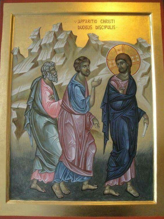 la rencontre de Jésus avec les apôtres vers Emmaeus.