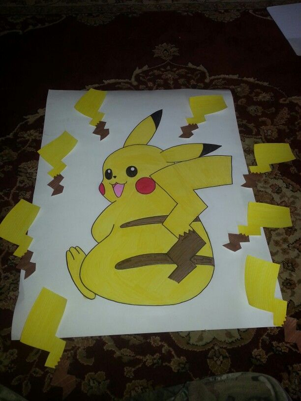 Hand made game pin the tail on the pikachu lillys pokemon pin the tail on the pikachu pronofoot35fo Gallery