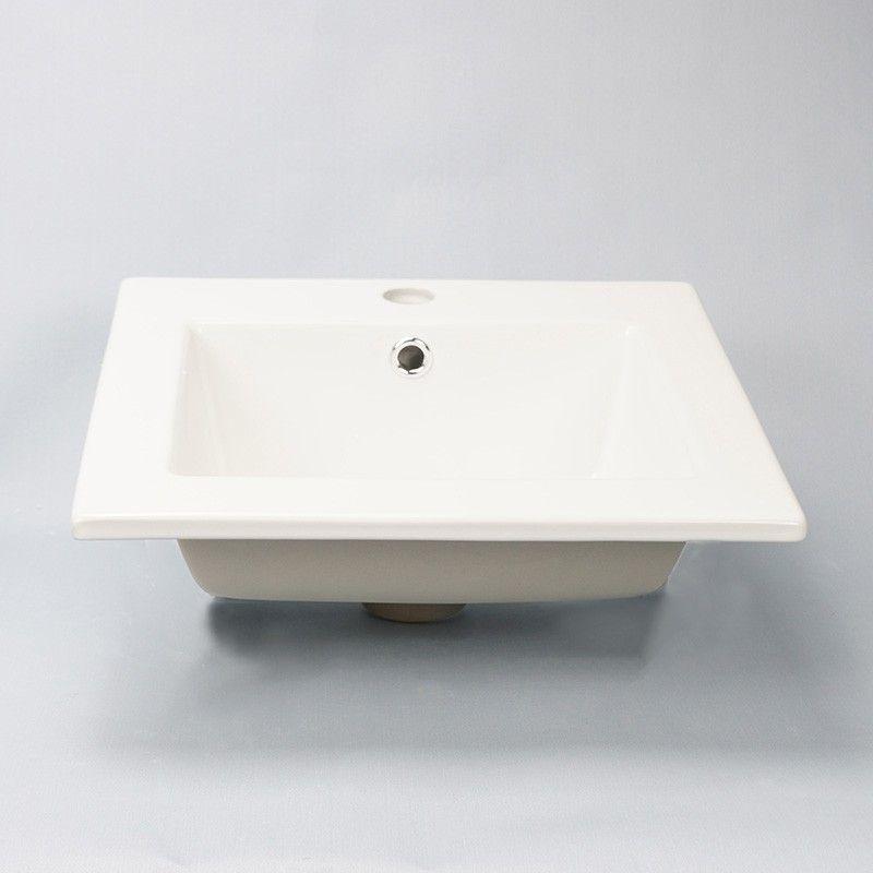 Vasque Encastrable Carrée, 42x42 cm, Céramique, Bent Vasque à - Meuble Vasque A Poser Salle De Bain