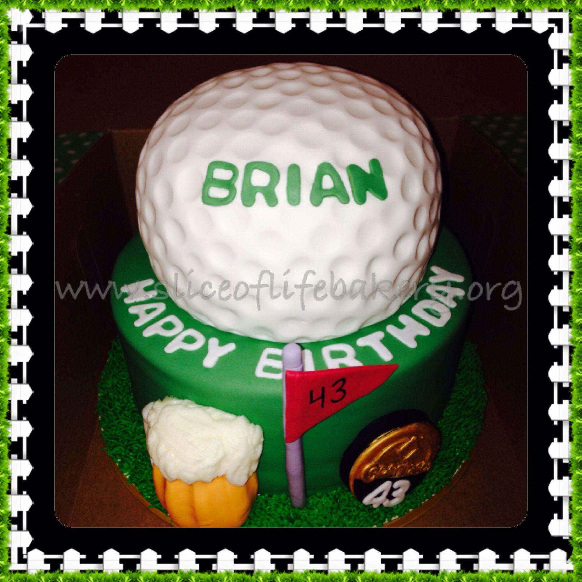 Happy Birthday Brian!!! #golf #cake #Masters2014