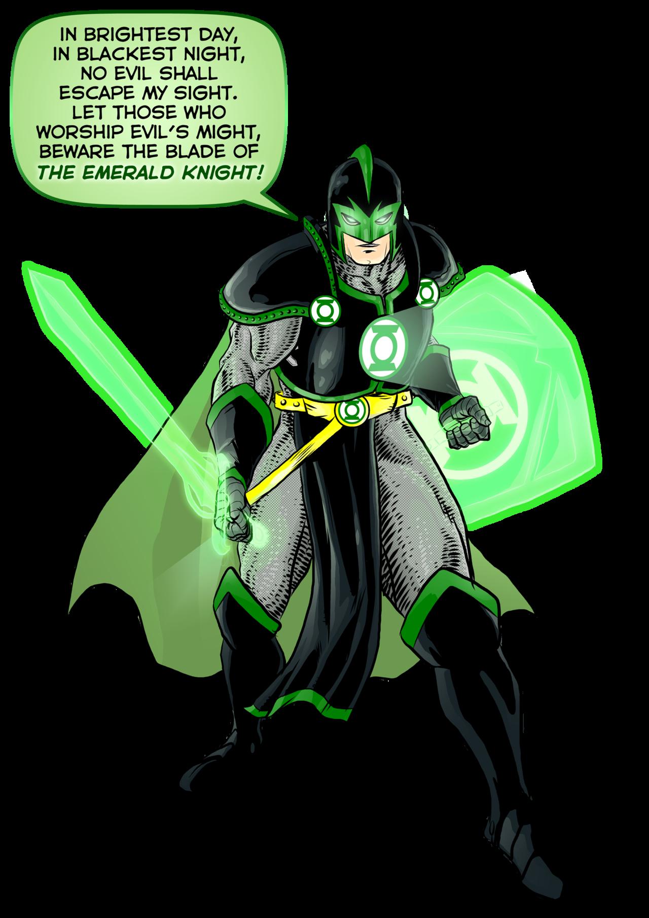 The Emerald Knight Green Lantern Green Knight Green Lantern Hal Jordan