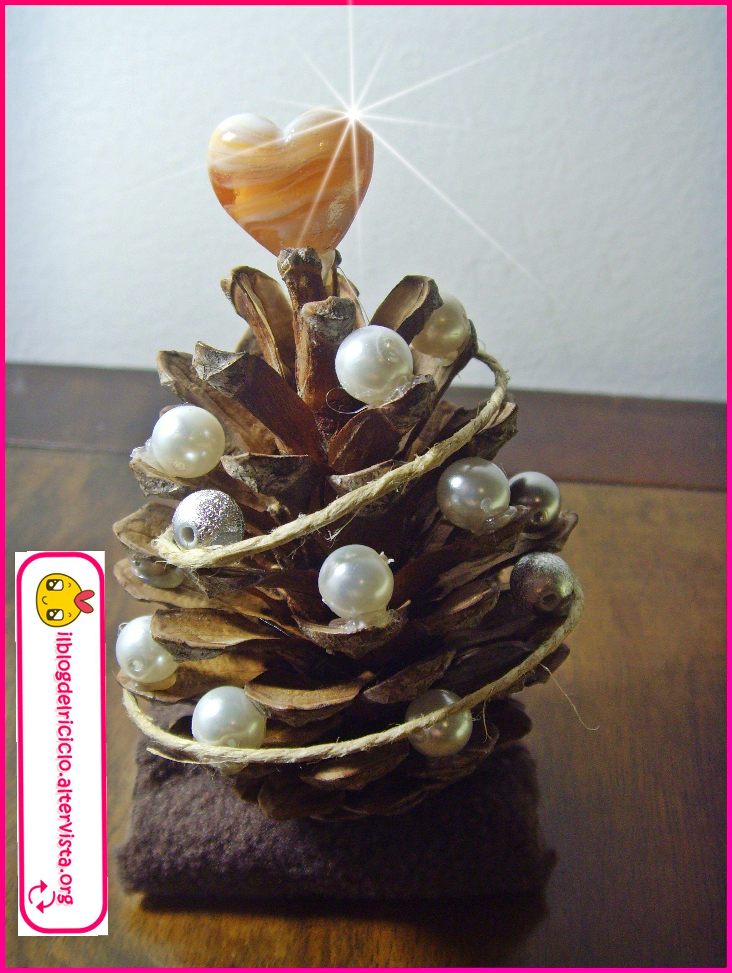 Segnaposto albero di Pigna   DIY Tutorial Decorazione ...