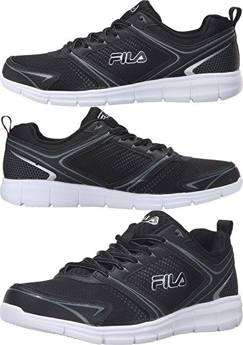 fila men s shoes. fila men\u0027s windstar 2 running shoe, black/black/metallic silver, 11.5 m us men s shoes