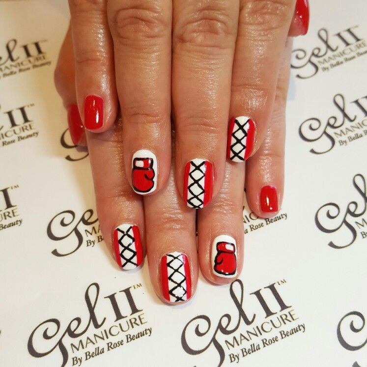 Nails Naildesign Nailart Boxing Knockout Redgloves Cute Acrylic Nails Short Gel Nails Nails