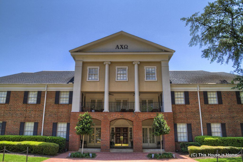 The Alpha Upsilon Chapter Of Alpha Chi Omega At The University Of
