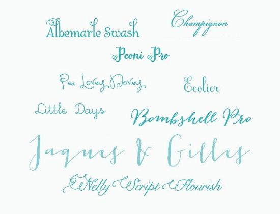 Calligraphy Wedding Invitations: Fonts we love