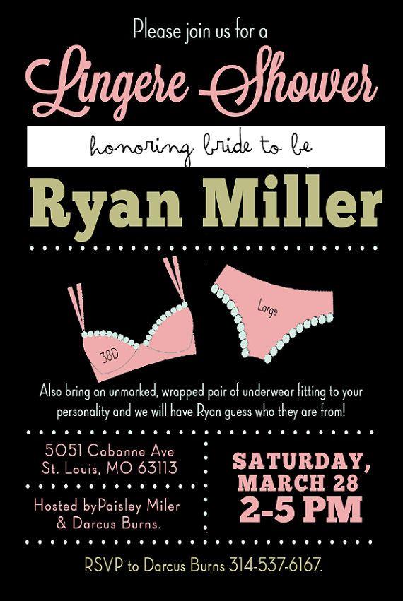 A 5x7 invitation perfect for a bachelorette party or lingerie shower.   #bachelorette #lingerie #shower #wedding #bride