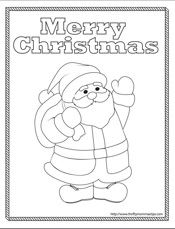 Free Printable Santa Coloring Page | Sewing | Pinterest | Navidad