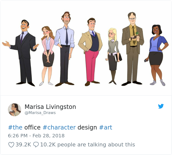 If The Office Was A Cartoon