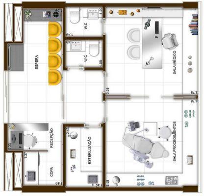 Planta consultorio odontologico consultorios y oficinas for Oficinas planta arquitectonica