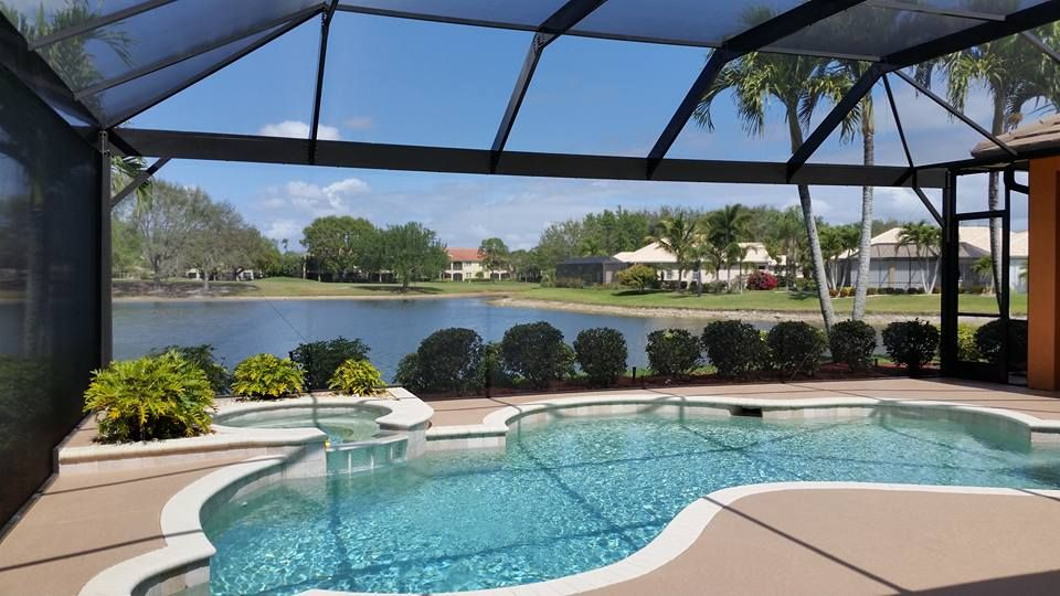 No Obstruction Pool Enclosure Picture Window Design Florida Pool Screened Pool Backyard Pool Designs