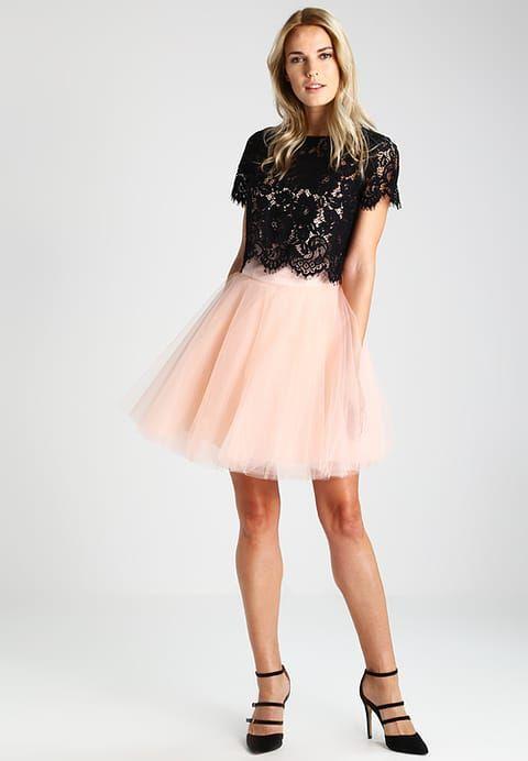 Derhy GOTHA - Vestido de cóctel - black   pink - Zalando.es ... 42cce1c07cd8