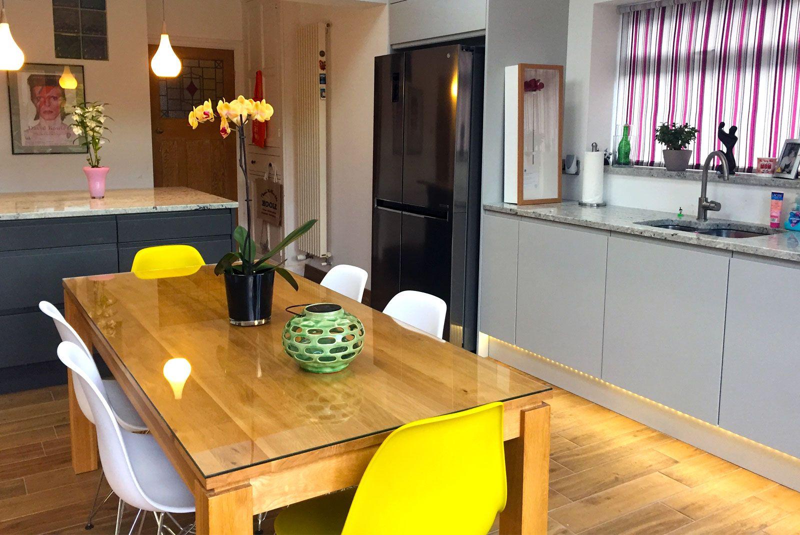 Best An Innova Luca Dove Grey Handleless Kitchen Kitchen 400 x 300