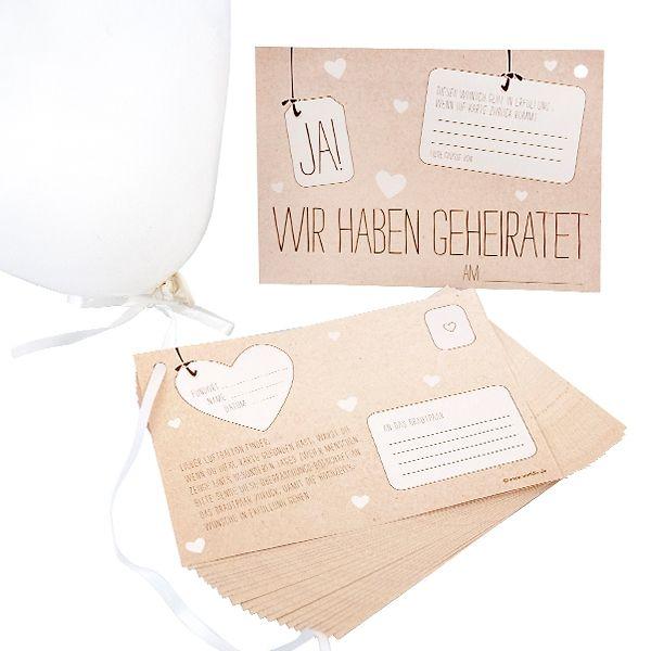 Ballonkarten Fur Ballonstart In Kraftpapieroptik 25 St Hochzeit Ballons Hochzeit Hochzeit Shop