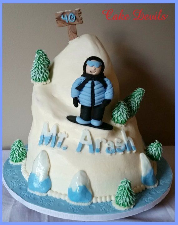 Snowboarder Fondant Cake Topper Kit Snowboard Decorations Ski WInter