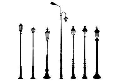 Lamp Post Silhouttes Lamp Post Vintage Scrapbook Post Lanterns