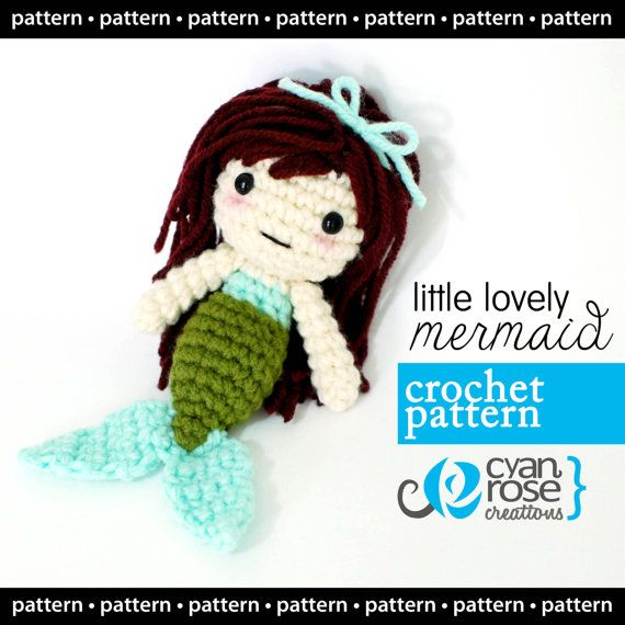 Mermaid Crochet Pattern - Instant Download - Little Lovely Mermaid ...