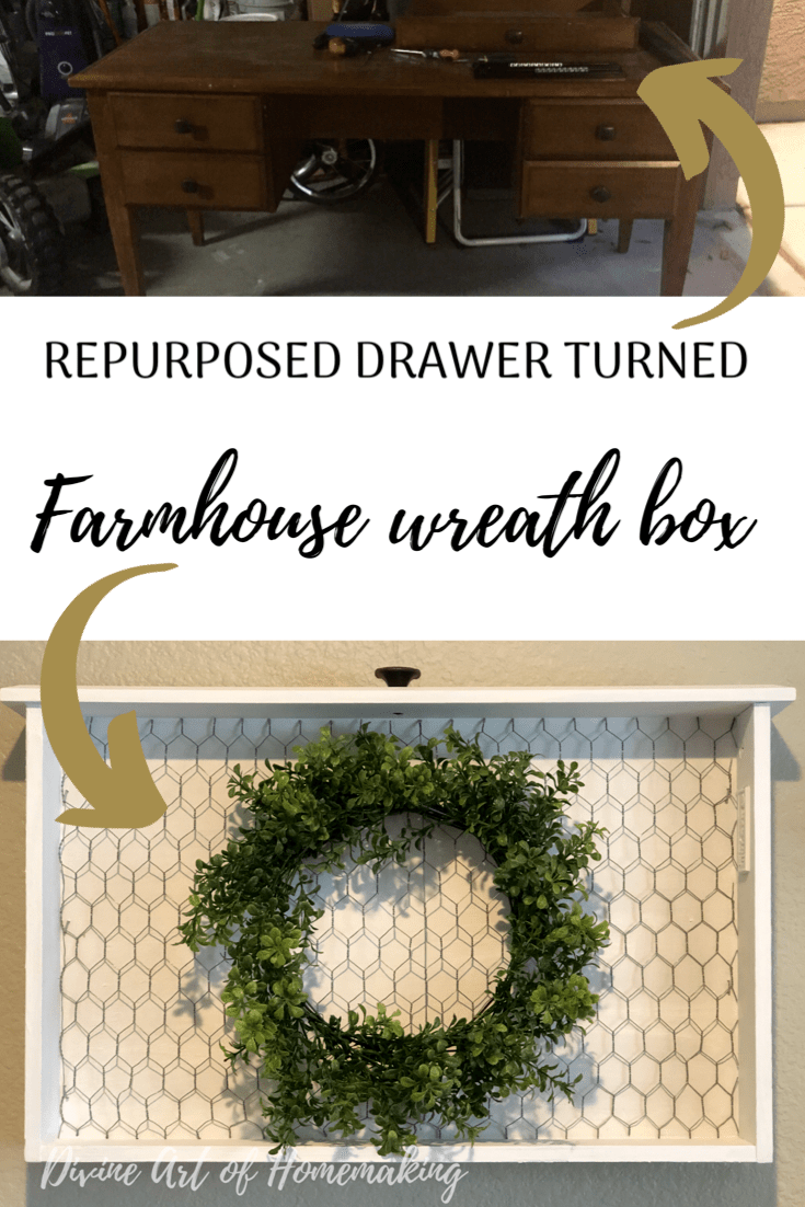 Repurposed Drawer Repurposed Wreath Boxes Wire Wreath Forms
