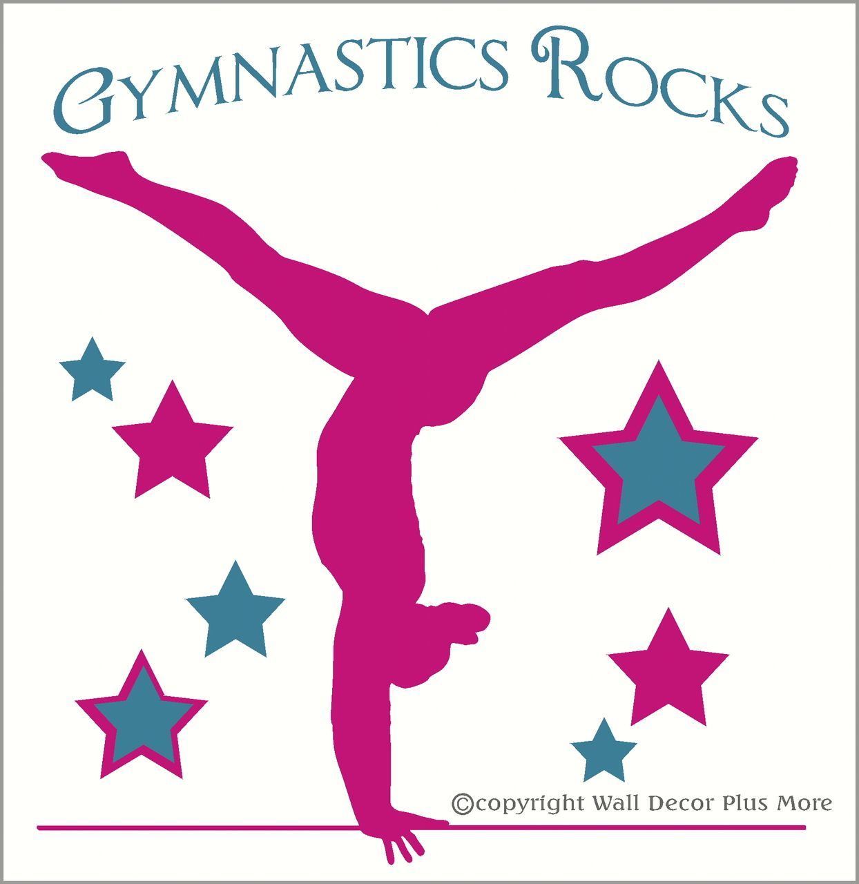 Gymnastic quotes for girls quotesgram by quotesgram siluetas wall decor plus more balancing gymnast with stars and gymnastics rocks girls room wall sticker over tall blackhot pink amipublicfo Image collections