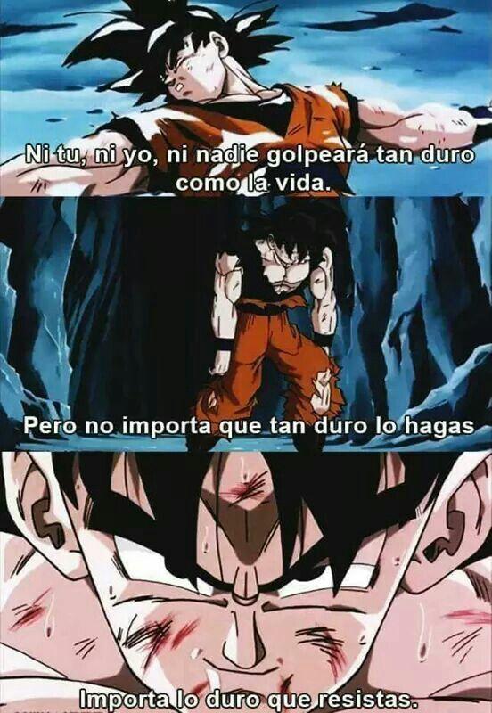 Pin De Federico Cespedes En Screenshots Frases Goku Frases Del Anime Dragon Ball Gt