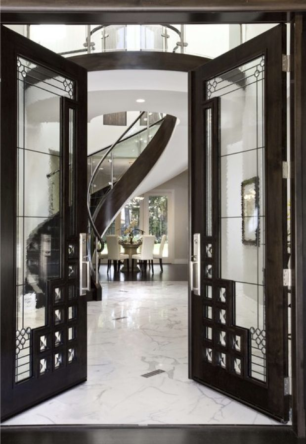 A Very Art Deco Style Entryway (via Front Door View To Stair   Contemporary    Entry   San Francisco   By Mark English Architects, AIA) IDEA FOR FRONT  DOOR
