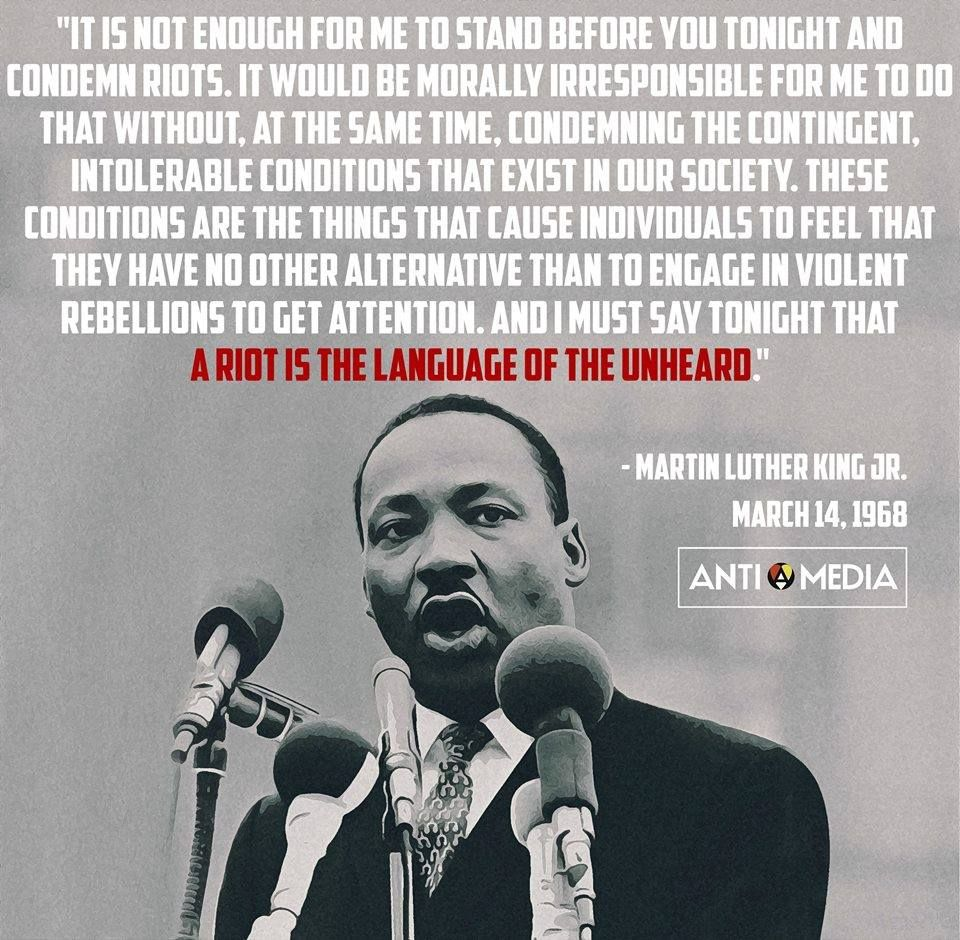 MLK quote on riots