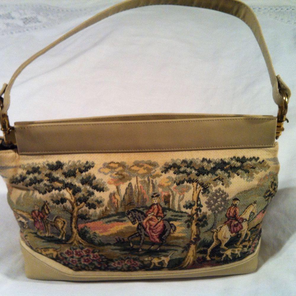 Vintage Margaret Smith Tapestry Handbag