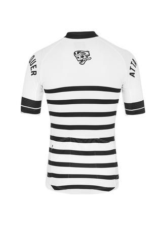 Core Jersey - Black White Striped Cycling Jersey Attaquer - 2 ... 499fee5a587