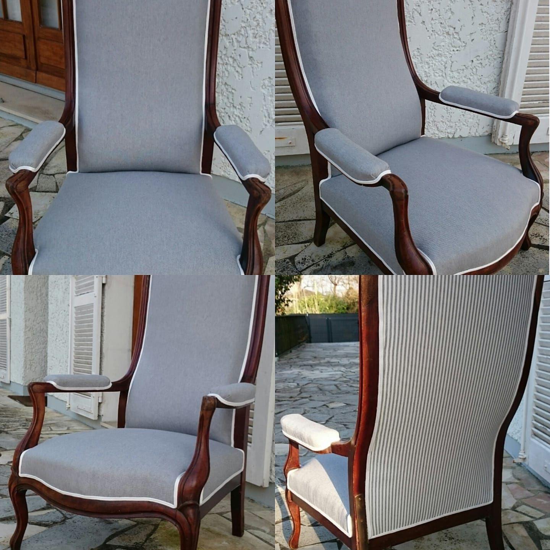 Relooker Un Fauteuil Voltaire fauteuil voltaire relooké en gris souris | fauteuil voltaire
