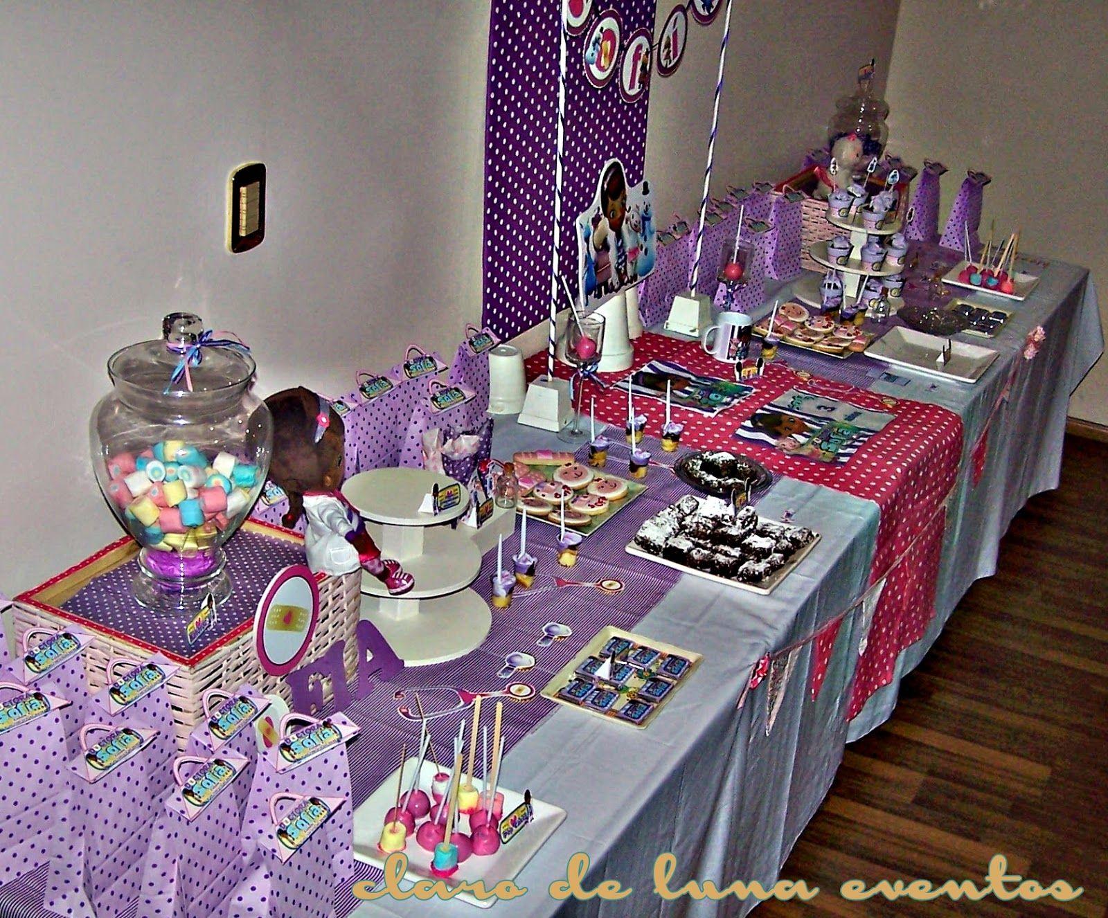 Doc Mcstuffins Table Decorations My Princess 3rd Birthday