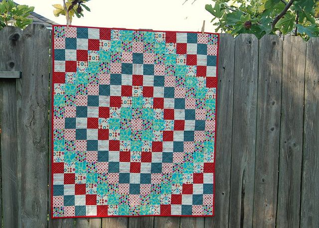 Around the World Baby Quilt by bebo821, via Flickr. links to instructions